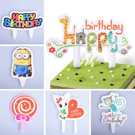 Cake Topper 50pcs 50pcs lot cupcake cake topper cake flags card decoration supplies for wedding