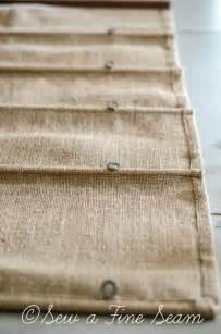 Roman Shades Instructions - burlap roman shade sew a fine seam