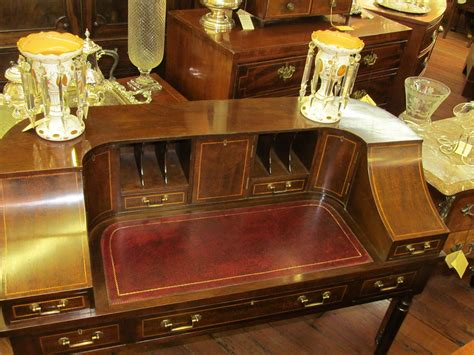 carlton house writing desk inlaid solid mahogany sheraton style carlton
