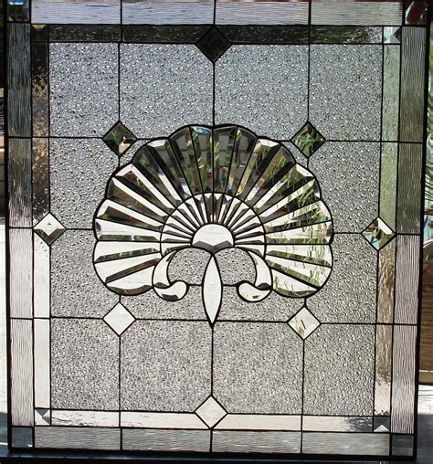 stained glass window panels lovely beveled glass shell stained glass window panel also available insulated and pre
