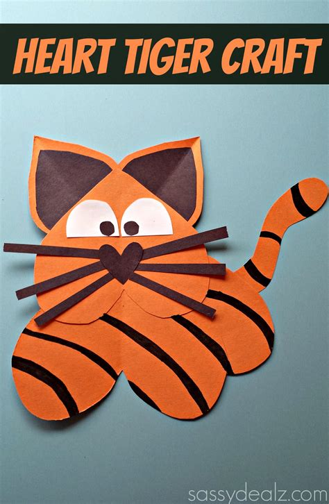 How To Make Animals Out Of Construction Paper - tiger craft for crafty morning