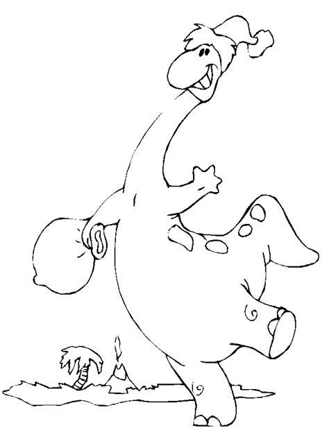 christmas dinosaur coloring page printable dinosaur1 christmas coloring pages