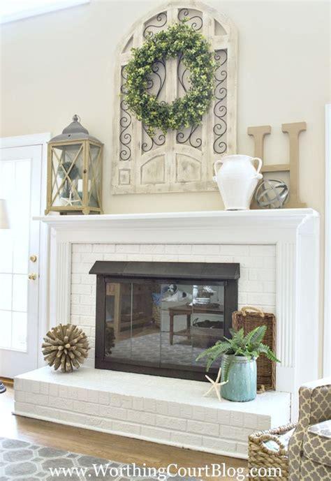 fireplace fireplace mantel decor  inspiring living