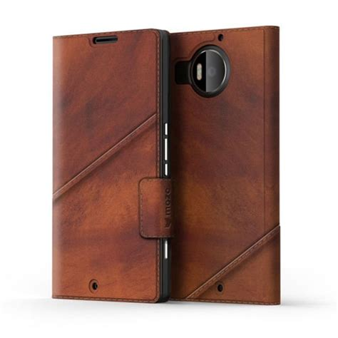 mozo thin flip case for microsoft lumia 950 new mozo leather thin flip cover case for microsoft lumia