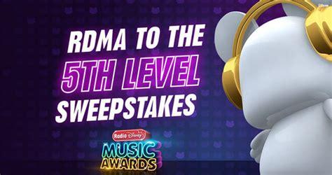 Radio Disney Sweepstakes 2017 - 2017 rdma to the 5th level sweepstakes