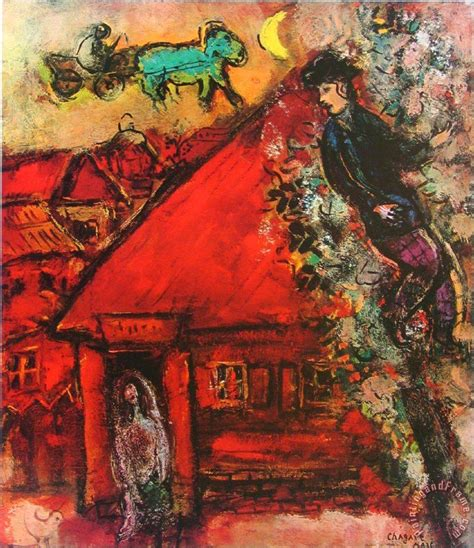 red house painters poster marc chagall the red house painting the red house print for sale
