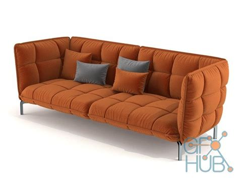 b b italia sofa bed 3d model b b italia husk sofa