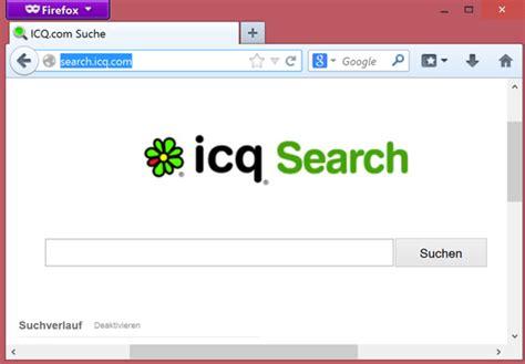 Icq Search Anleitung Search Icq Starteseite Und Icq Toolbar Entfernen Techfrage