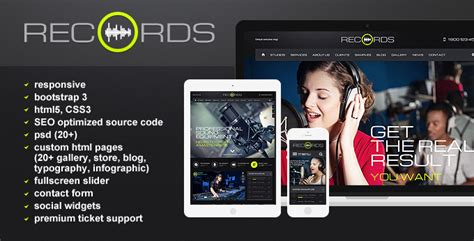 Radio Station Html5 Website Template Free Tonytemplates Blog Ham Radio Website Templates Free