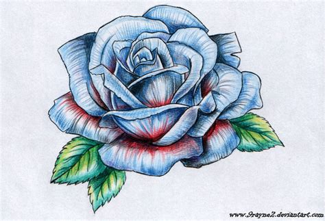 blue rose tattoo by 9rayne2 on deviantart