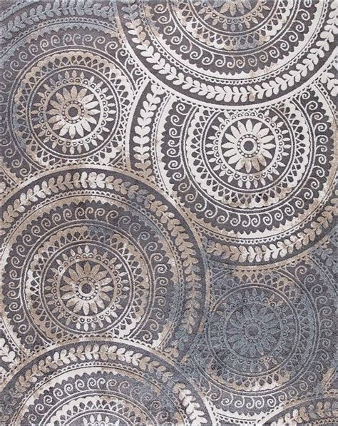 home decorators collection spiral medallion gray  ft