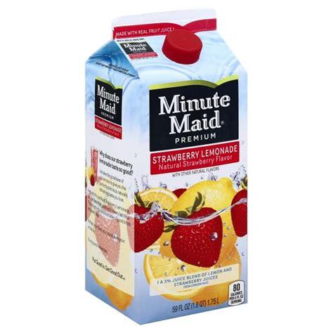 minute light lemonade drink minute light strawberry lemonade nutrition