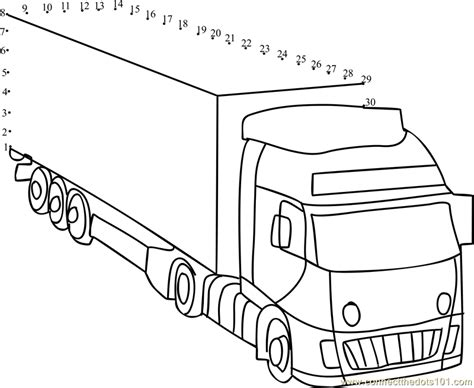 printable dot to dot truck container truck dot to dot printable worksheet connect