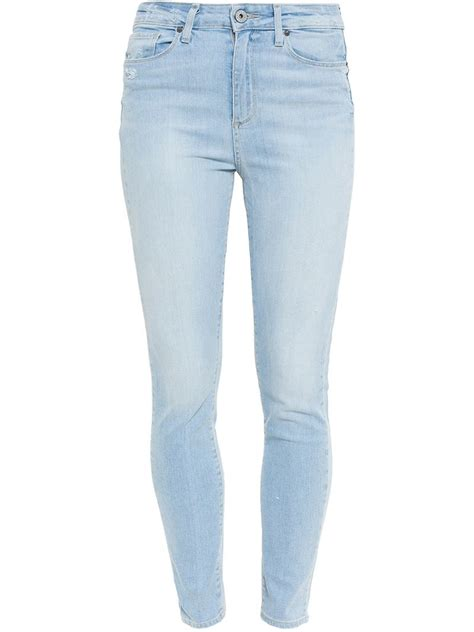 light blue jeans womens paige margot ultra skinny jeans in blue lyst