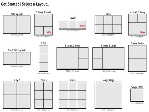 create your own layout picisto make your own photo collage with 15 layouts to