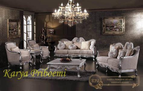 Kursi Davinci kursi tamu sofa klasik silver