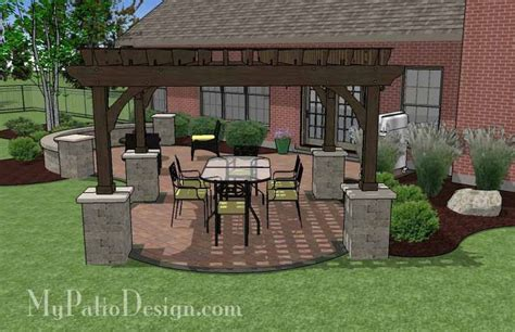 the concrete paver patio design with pergola features 17 best images about straight house designs on pinterest