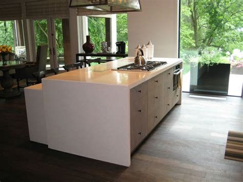 waterfall island counter 16 best images about waterfall countertops on