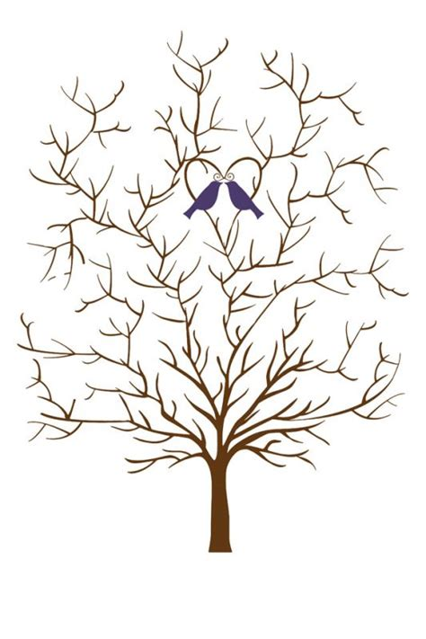 thumbprint family tree template wedding tree template without leaves weddingbee photo