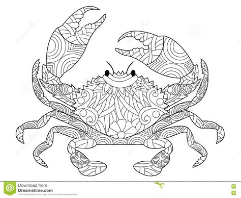z coloring book for and adults 40 illustrations books crab coloring book vector for adults stock vector image