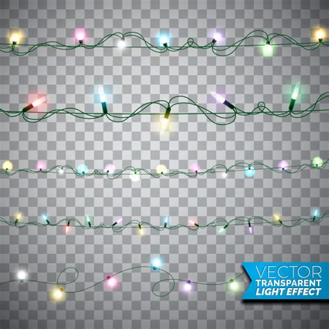 realistic garland glowing lights realistic isolated design