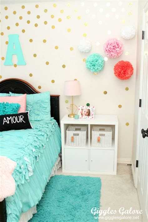diy bedroom decor for tweens tween girls bedroom makeover giggles galore