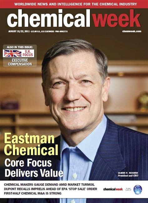 Eastman Chemical Mba Employers by Eastman Chemical Featured On Cover Of Chemical Week