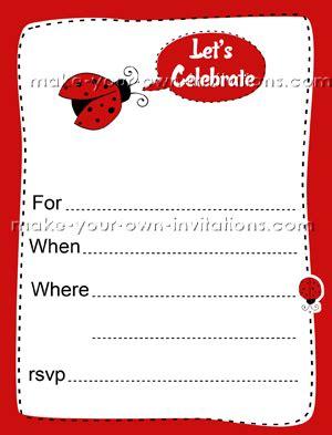 printable ladybug invitation template printable ladybug party invitations free birthday party