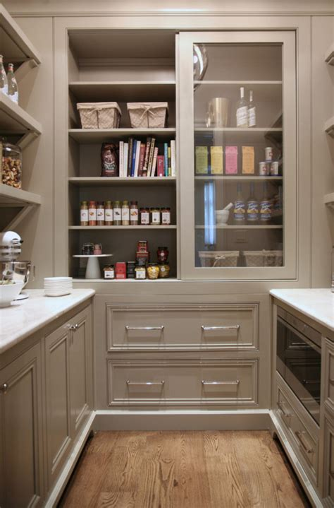 Kitchen Pantry Designs Ideas Warm White Kitchen Design Amp Gray Butler S Pantry Home