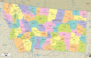 Map Of Montana Cities by Political Map Of Montana Ezilon Maps