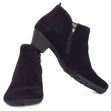 trudy modern ankle boots in black suede
