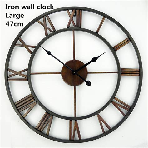 big decorative wall clocks handmade oversized 3d retro wrought iron vintage