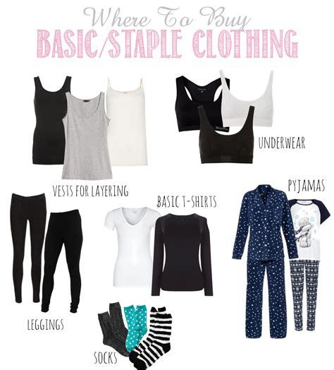 shopping for basics staple clothing items beautiful