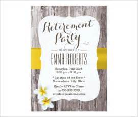 retirement invitations templates retirement invitation template 36 free psd format