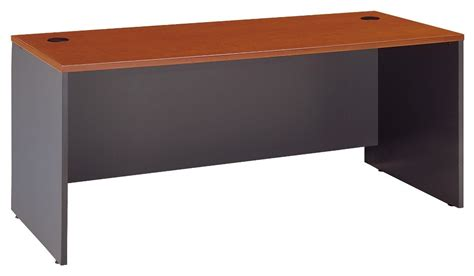 series c auburn maple 72 inch desk shell from bush