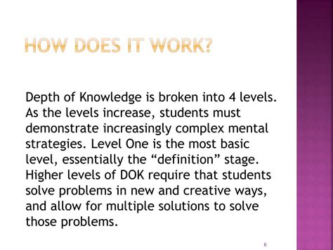 L Of Knowledge Meaning by Ppt Depth Of Knowledge In Powerpoint Presentation Id 634338