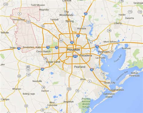 waller texas map waller acreage to be developed houston chronicle