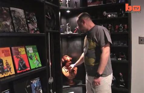 man builds secret batcave themed theater  basement