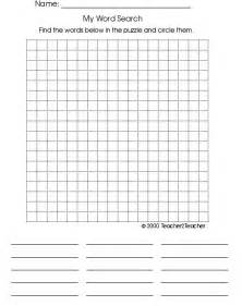 Empty Word Search Grid Template by Blank Wordsearch Grids Teaching Ideas