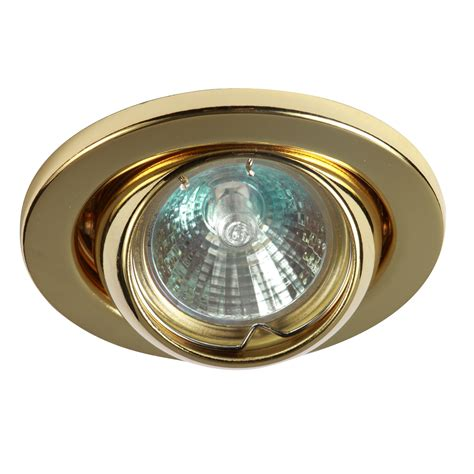ip20 12v 50w max l v brass eyeball downlight with bridge