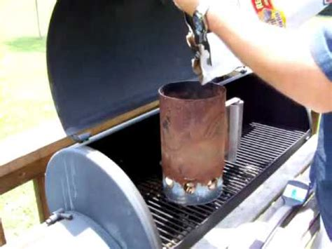 best way to light charcoal how to build your own charcoal chimney for free part 1