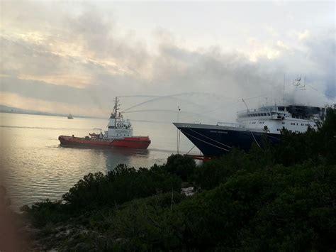 ocean countess cruise ship  fire  greece update gcaptain