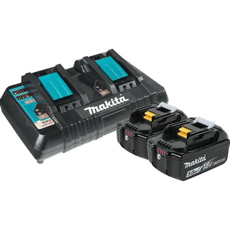 makita 18 volt lithium ion charger makita 18 volt 5 0ah lxt lithium ion battery and dual port