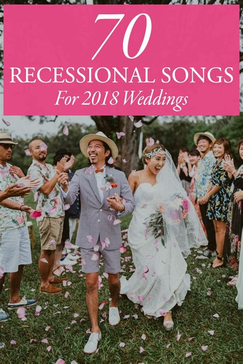 Wedding Songs Ceremony by 70 Ceremony Recessional Songs For 2018 Weddings Junebug