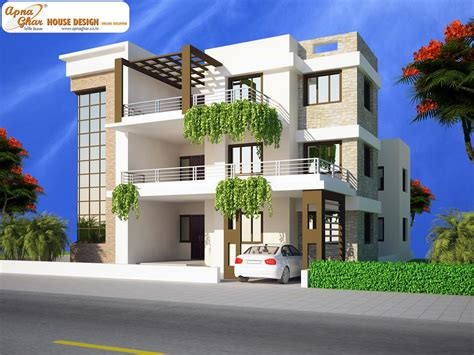 3 floor house apnaghar house design complete architectural solution