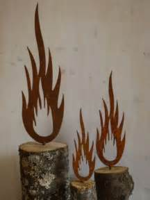 metall dekoration details zu rost flamme metall weihnachten garten