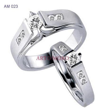 Cincin Kawin Tunangan Cincin Titanium Emas Perak Crk039 gambar cincin titanium republika rss
