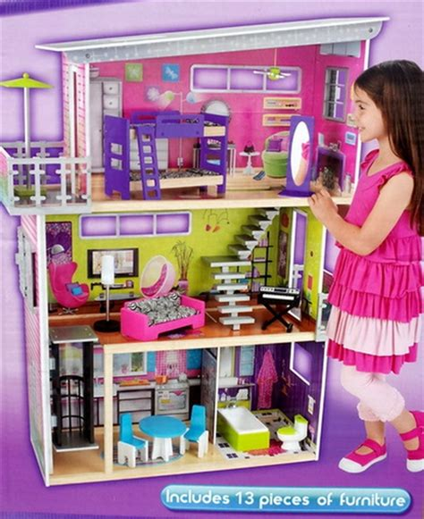 3 story dollhouse with elevator kidkraft 3 story wood dollhouse my modern mansion doll
