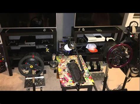 Gaming Setup Simulator by Gaming Room Tour Ultimate Dual Wheel Setup Youtube