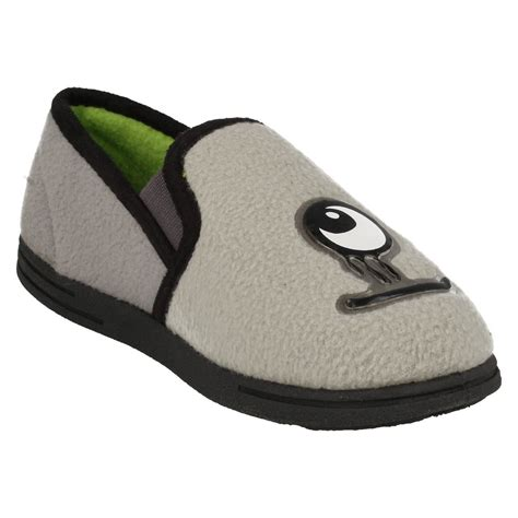 boys house slippers infant junior boys clarks house slippers movello rise ebay